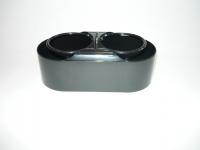 Поставка за чашка двойна черна модел 1