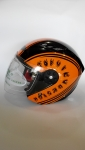 Каска за скутер LUX оранжева дл