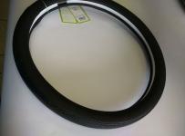 калъф за волан черен LUX с надупчена кожа 38см
